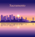 sacramento silhouette on sunset background vector image vector image