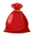 Santa sack icon cartoon style vector image