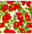 seamless texture red hibiscus branches vector image