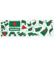 set national flag bangladesh in vector image vector image