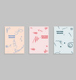 set of brochure flyer design template vector image vector image