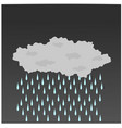 single rain cloud is rainfall vector image vector image
