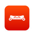 skateboard deck icon digital red vector image