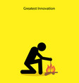 stick figure making fire vector image vector image