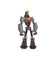 strong metal transformer mechanical steel monster vector image
