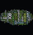 teen jobs dlvy nicheblowercom text background vector image vector image