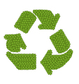 The Recycle Icon Made of Four Leaf Clover vector image vector image