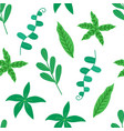 tropical leaves seamless pattern on white vector image