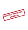 United Kingdom London Rubber Stamp vector image