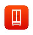 wardrobe icon digital red vector image vector image