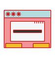 window web technology element design vector image