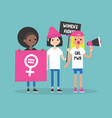 womens right conceptual feminist demonstration a vector image