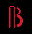 Logo templates of letter B Book shape vector image