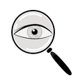 Eye in Magnification Flat Icon vector image
