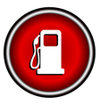 gas station on white background vector image