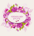 Vintage Floral Card with Roses vector image