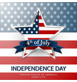 4 th july usa star independence day vector image