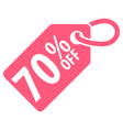 70 percent off tag vector image