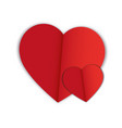 abstract hearts shape love concept vector image