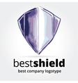Abstract shield logotype concept isolated on white vector image
