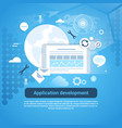 application development web coding banner with vector image vector image