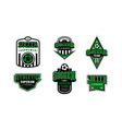 Badges set soccer tournament