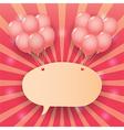 balloon starburst background vector image vector image