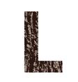 bark letter L vector image