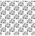 black abstract seamless pattern fashion graphic vector image vector image