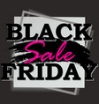 black friday design template sale square banner vector image