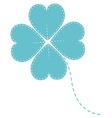 blue clover four leaf vector image vector image