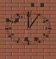 Brick wall clock vector image