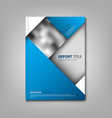 brochures book or flyer with abstract blue design vector image vector image