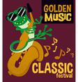 Cartoon animal music festival design vector image vector image