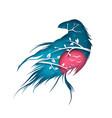 cartoon paper landscape raven vector image vector image