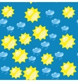 Cartoon sun and snow seamless texture 637 vector image