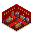 casino room isometric image vector image vector image