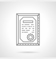 certificate flat line icon vector image vector image