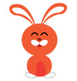 clipart a cute little rabbit smiling or color vector image vector image