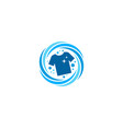 cloth laundry logo icon design vector image