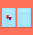 cocktails about alcohol posters with two glasses vector image vector image