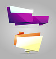 colorful origami banner vector image vector image