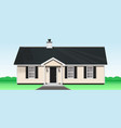 cozy one storey wooden house vector image
