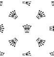 crown pattern seamless black vector image vector image