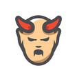devil halloween icon cartoon vector image vector image