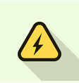 electric shock yellow sign icon flat style vector image vector image