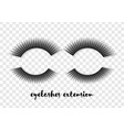 eyelashes extension vector image