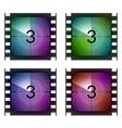 film strip countdown movie number cinema vintage vector image vector image