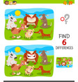 finding differences game with dogs group vector image vector image