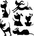 funny dog silhouette vector image